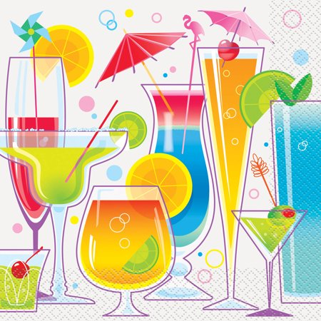 summer cocktail party lunch napkins 16ct walmart com