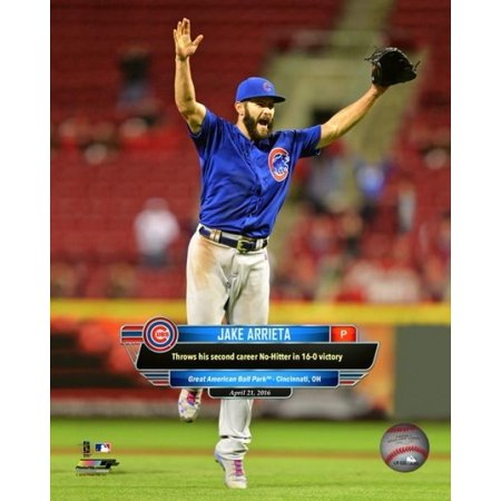Jake Arrieta throws his second No-Hitter April 21  2016 Photo Print (8 x 10)