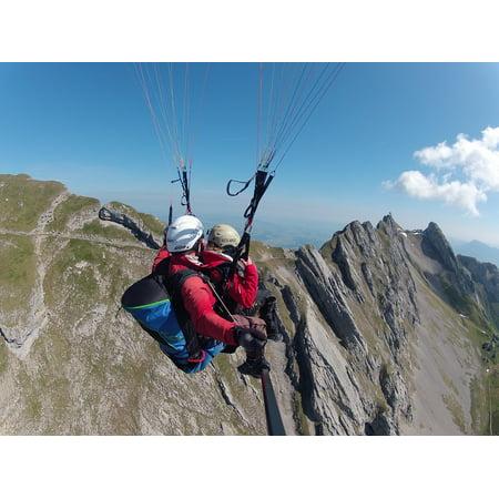 Laminated Poster Tandem Flight Volaris Paragliding Paragliding Poster Print 24 X 36