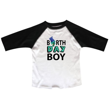 Birthday Raglan Boy Toddler Youth 3 4 Sleeves Baseball Tee Black 3T