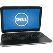 "Refurbished Dell Silver 15.6"" E5520 Laptop PC with Intel Core i3-2310M Processor, 4GB Memory, 320GB Hard Drive and Windows 10 Pro"