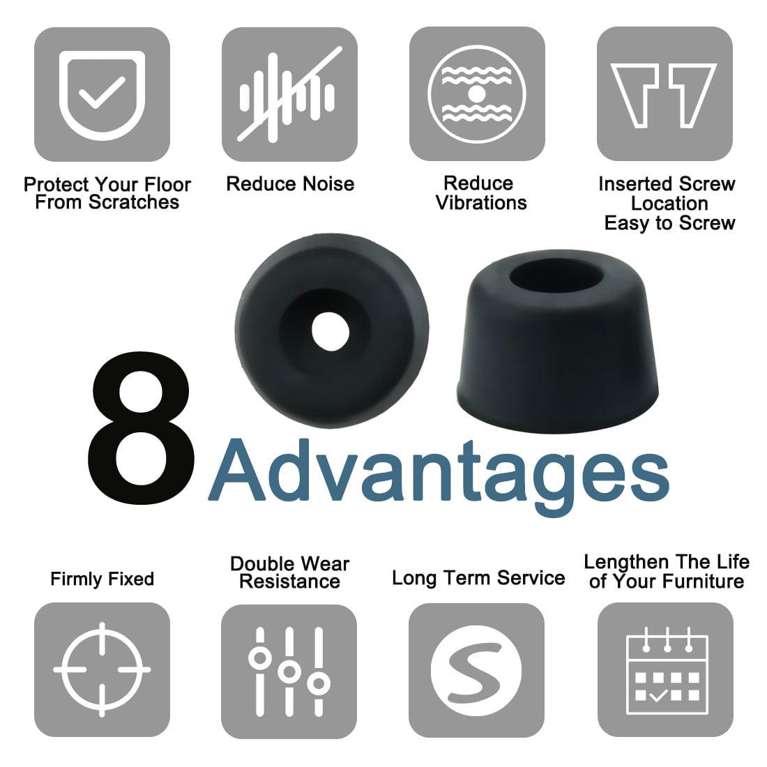 32pcs Rubber Feet Bumper Speaker Floor Protector for Desk Leg Pad, D14x12xH9mm - image 5 of 7