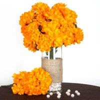 Orange artificial flowers walmart product image balsacircle 56 large chrysanthemum mums balls silk flowers diy home wedding party artificial bouquets arrangements mightylinksfo