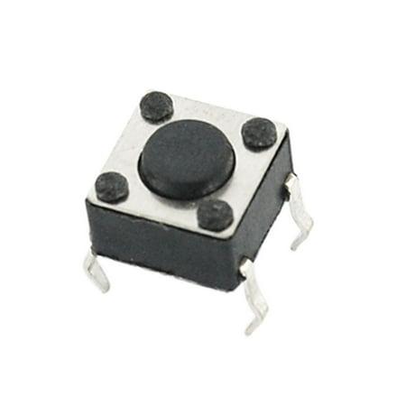 10 Pcs 6 x 6 x 6mm Momentary Tactile Tact Push Button Switch 4 Pin DIP ()