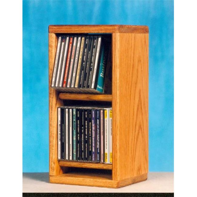 Wood Shed 206 Solid Oak Dowel Cabinet for CDs