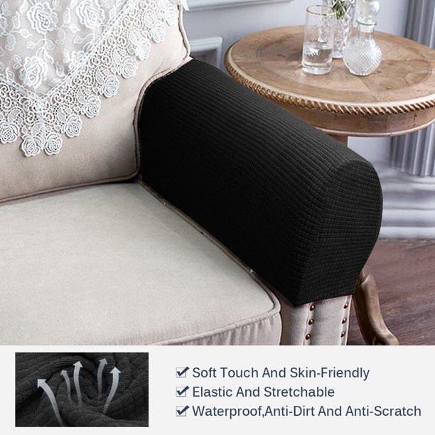 Elastic Strap Chair Couch Cover, Furniture Arm Covers