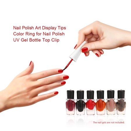50pcs/pack Nail Polish Art Display Tips Color Ring for Nail Polish UV Gel Bottle Top Clip Palette Manicure Salon Tools - image 3 of 7