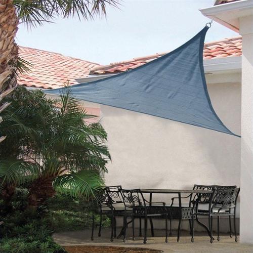 ShelterLogic ShadeLogic 16' Heavy Weight Triangle Sun Shade Sail in Sea Blue