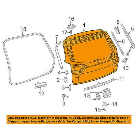 Tailgate Skin - Jeep CHRYSLER OEM 2014 Cherokee-Liftgate Tailgate Hatch Panel Skin 68236459AA