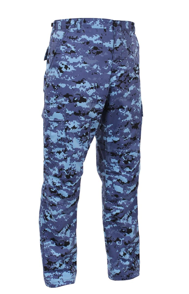 Army Digital Camo BDU Pants, Military Fatigues, Sky Blue Digital Camo by Rothco