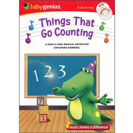 baby genius things that go counting spanish dvd cd. Black Bedroom Furniture Sets. Home Design Ideas