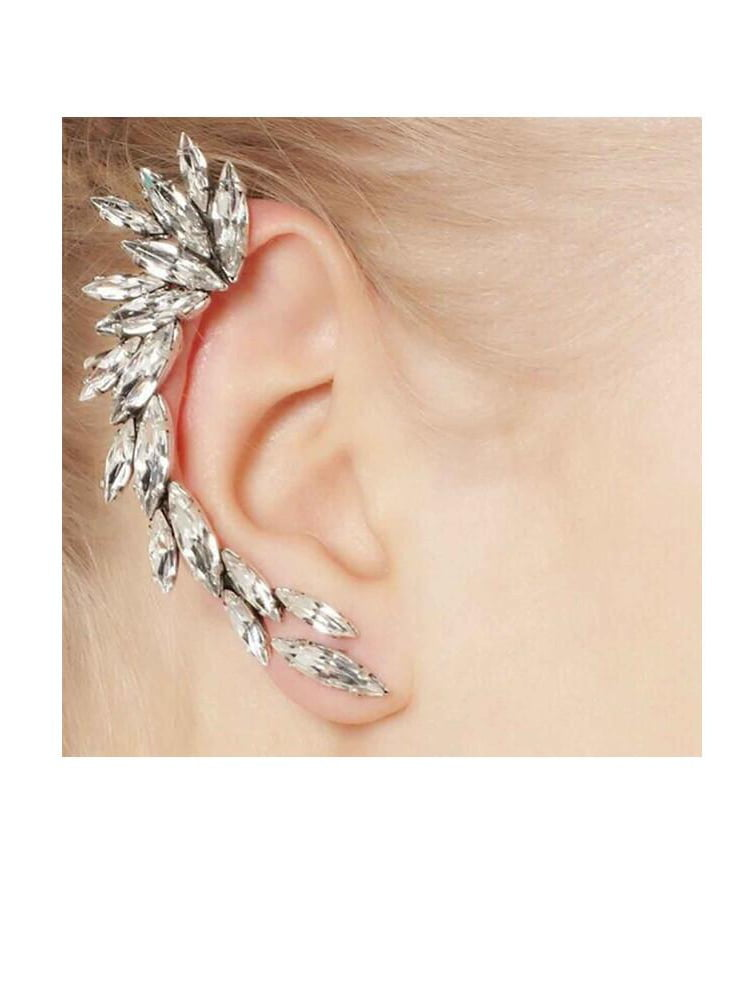Cool Sexy Sparkles Fashion Jewelry Sexy Sparkles Ear Cuffs Clip Wrap Earrings Stud Wrap Earrings Earrings Cuffs For Women And Girls Clip On The Ears Pabps2019 Chair Design Images Pabps2019Com