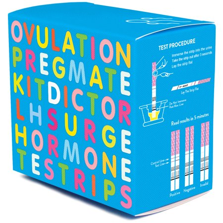 PREGMATE 100 Ovulation LH Test Strips One Step Urine Test Strip Combo Predictor Pregnancy Kit Pack (100 (Clear Blue Digital Ovulation Test)