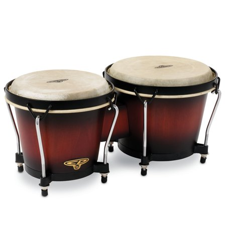 Latin Percussion CP Traditional Wood Bongos Vintage Sunburst