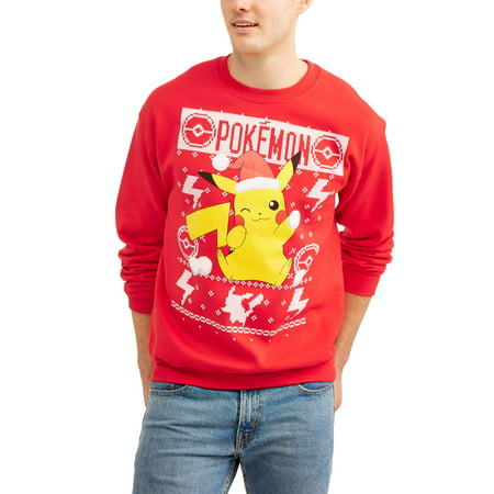 bd124ed9 Gaming - Pokemon Men's Pikachu Holding Snowball Ugly Graphic Christmas  Sweater - Walmart.com