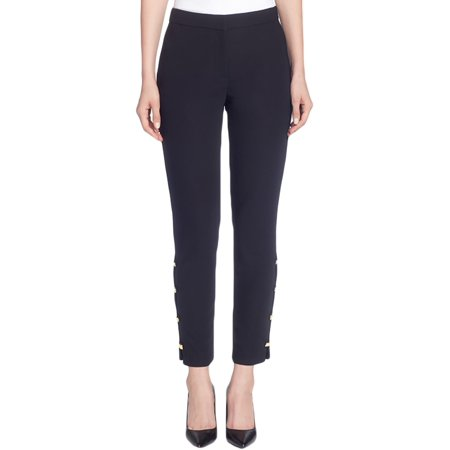 CATHERINE CATHERINE MALANDRINO Womens Slim-Leg Embellished Dress Pants