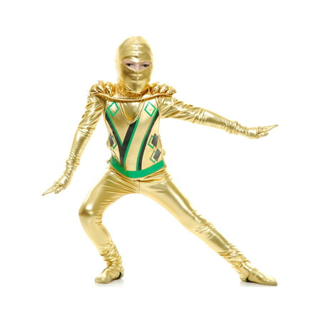 Childs Gold Boys Ninja Avengers Series 3 Costume XL 12-14 (Gold Power Ranger Costume)