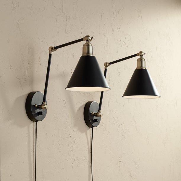 360 Lighting Modern Wall Lamp Plug In