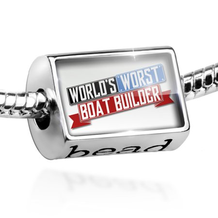 Bead Funny Worlds worst Boat Builder Charm Fits All European Bracelets - Funny Body Builder