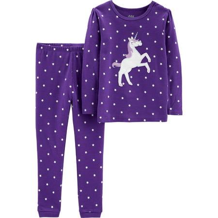 Long Sleeve Cotton Tight Fit Pajamas, 2-piece Set (Baby Girls & Toddler Girls)