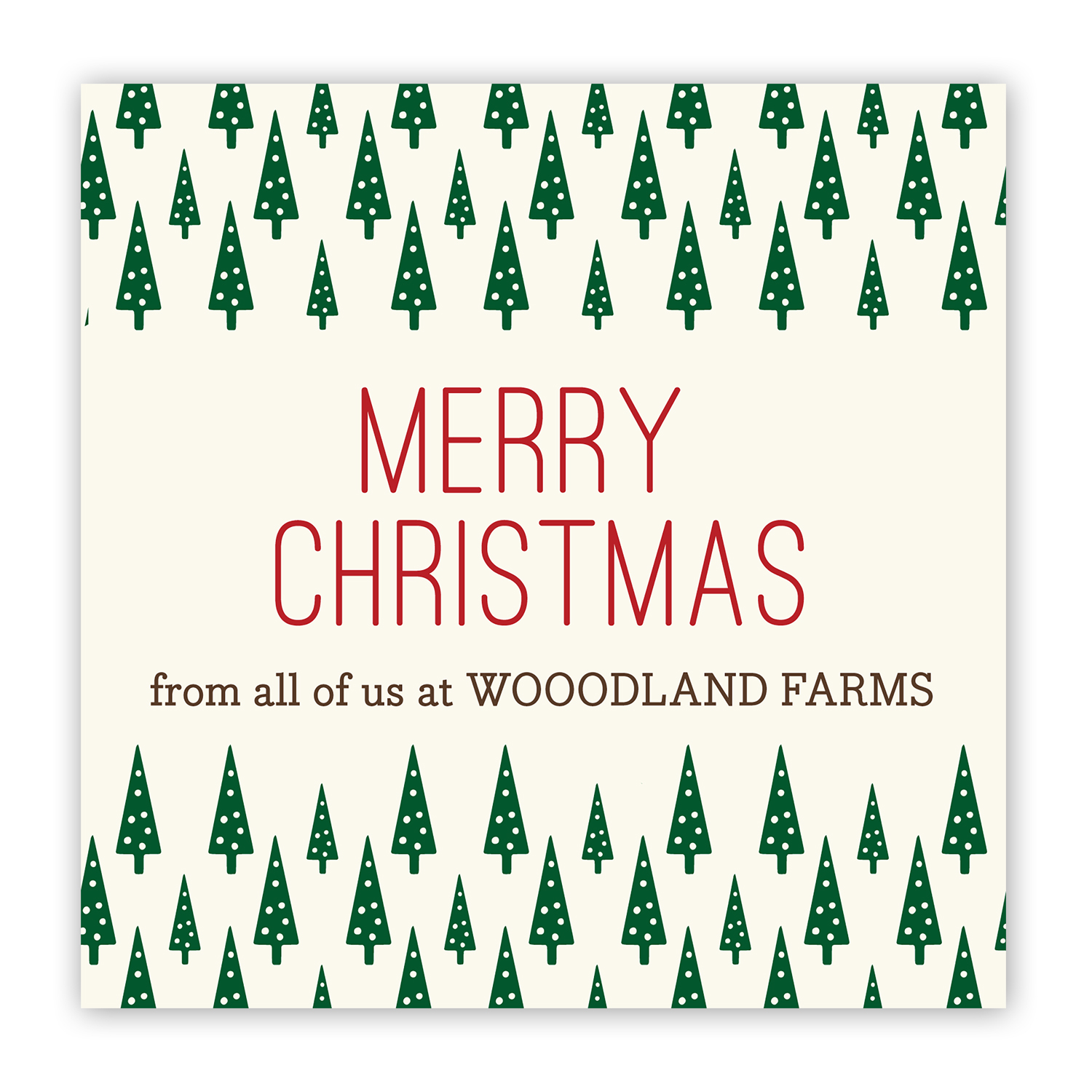 Christmas Tree Farm Personalized Holiday Window Cling, Multiple Sizes