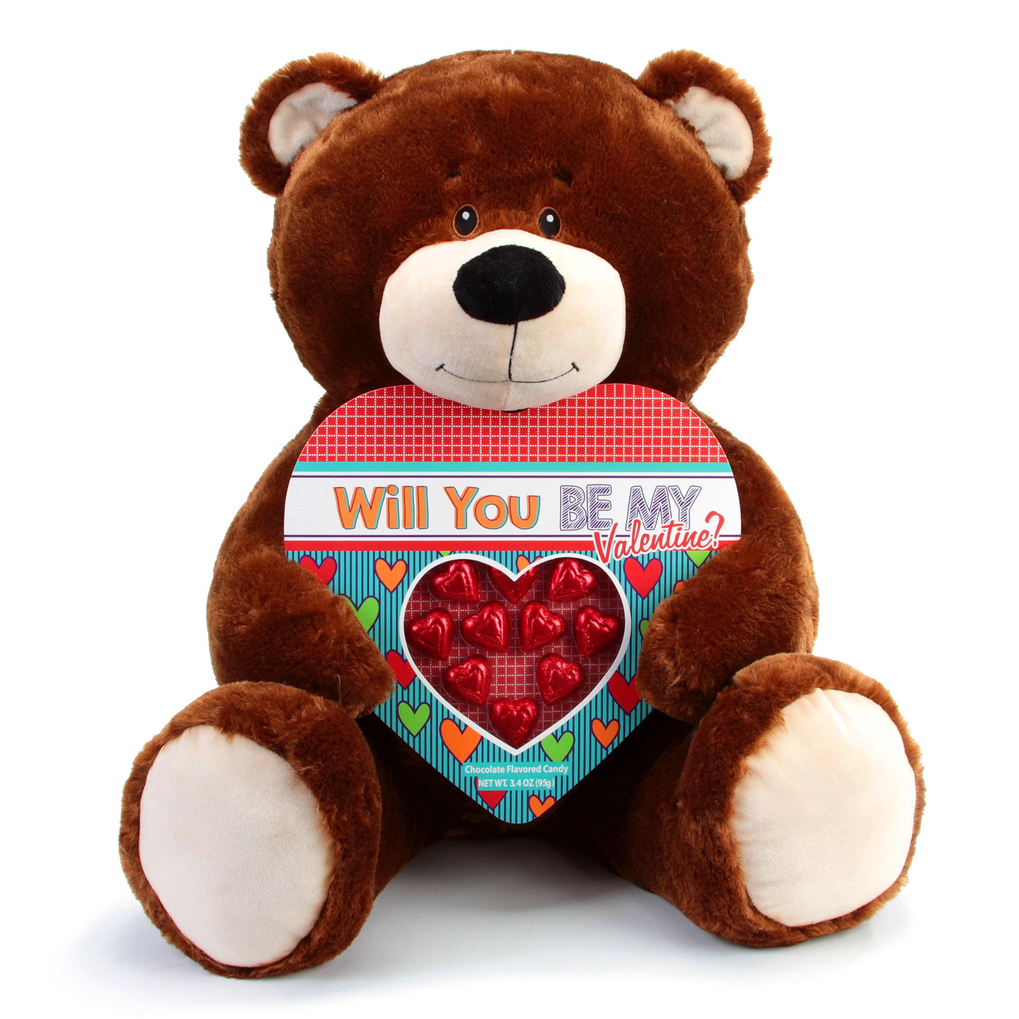 Progressive Balloons and Gifts Jumbo Brown Bear Heart Box Gift