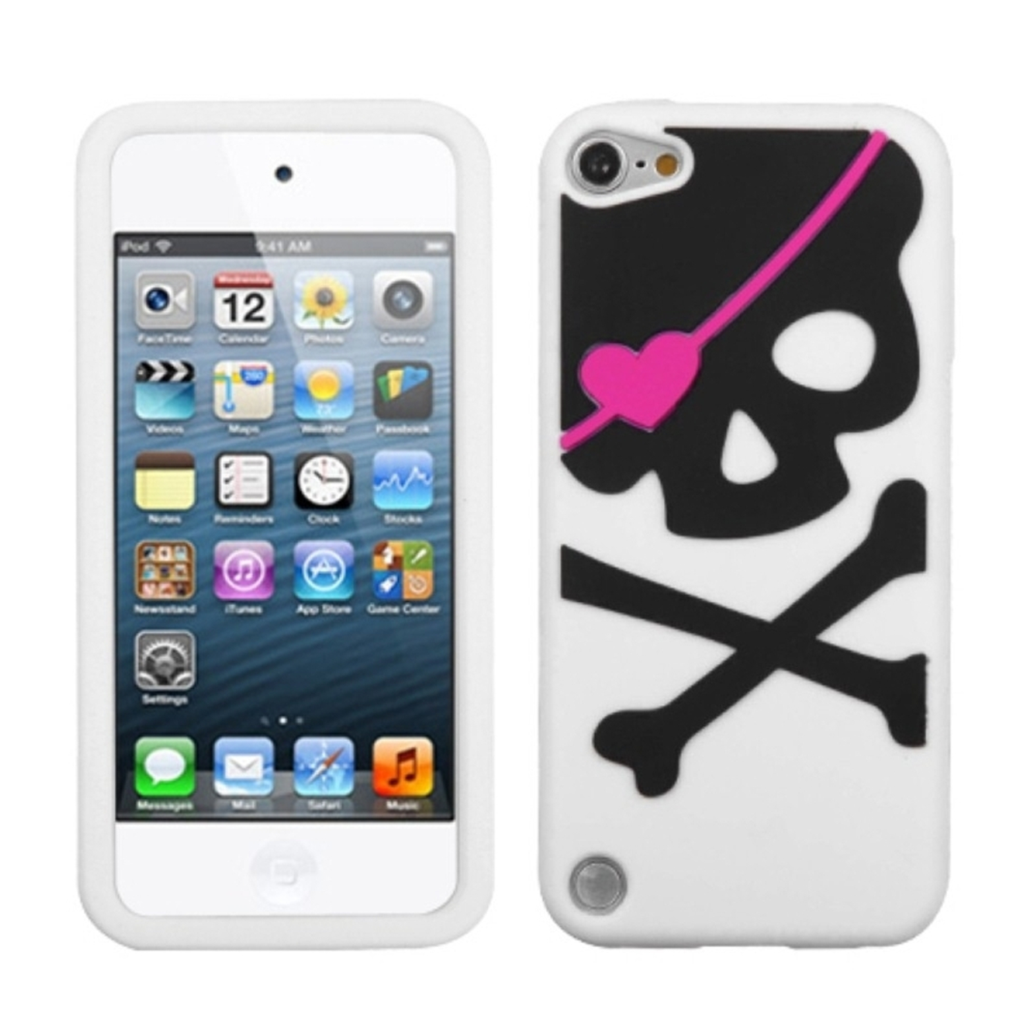 Insten Big Skull/White Pastel Skin Cover Case For iPod Touch 6 6th 5 5th Gen