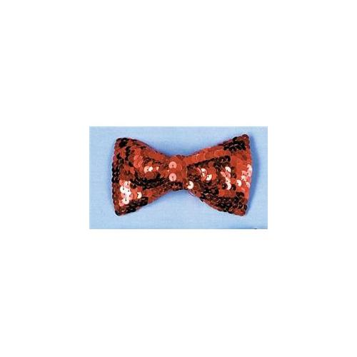 Costumes For All Occasions Bb133Rd Bow Tie Sequin Red