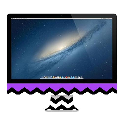"MightySkins Protective Vinyl Skin Decal Cover for Apple iMac 21.5"" (Nov 2012-2015) wrap cover sticker skins Purple Chevron"