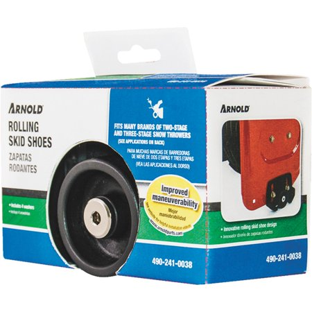 Image of Snow Thrower Rolling Skid Shoes 490-241-0038