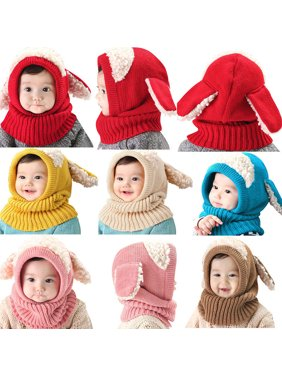 440d91d4639 Product Image Dog Style Comfortable Winter Baby Hat and Scarf Joint Knitted  Caps for Infant Boys Girls