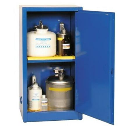 Eagle Safety Storage Cabinets - Eagle Cra-1906 Acid And Corrosive Safety Storage Cabinets - Blue One Door Manual Close One Shelf