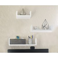 Product Image Floating Shelves Set Of 3 With Modern U Shape And Durable Design By Adorn Home Essentials