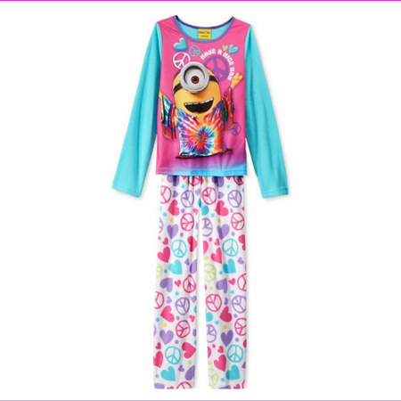 Little Girl From Despicable Me (Despicable Me Girls' or Little Girls' 2-Piece Peace Pajamas, size)