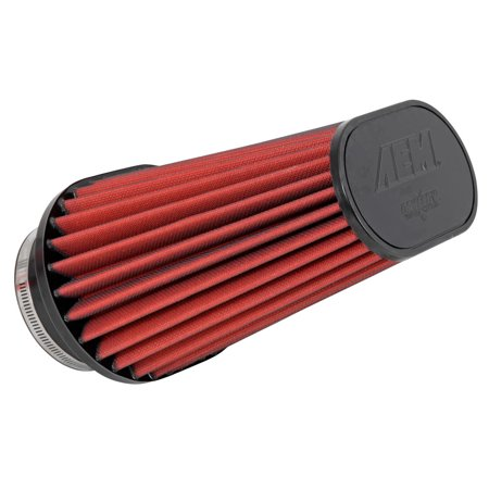 Series 210 Oval Wash (AEM 21-2204DK Universal DryFlow Clamp-On Air Filter: Oval Tapered; 3.5 in (89 mm) Flange ID; 9.188 in (233 mm) Height; 8.25 in x 6 in (210 mm x 152 mm))