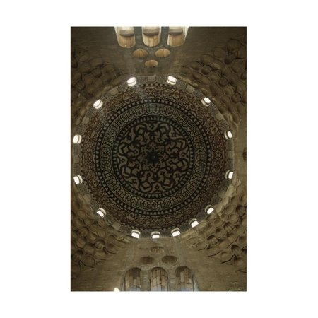 Egypt, Cairo, Mosque Interior with Dome Ceiling Print Wall Art