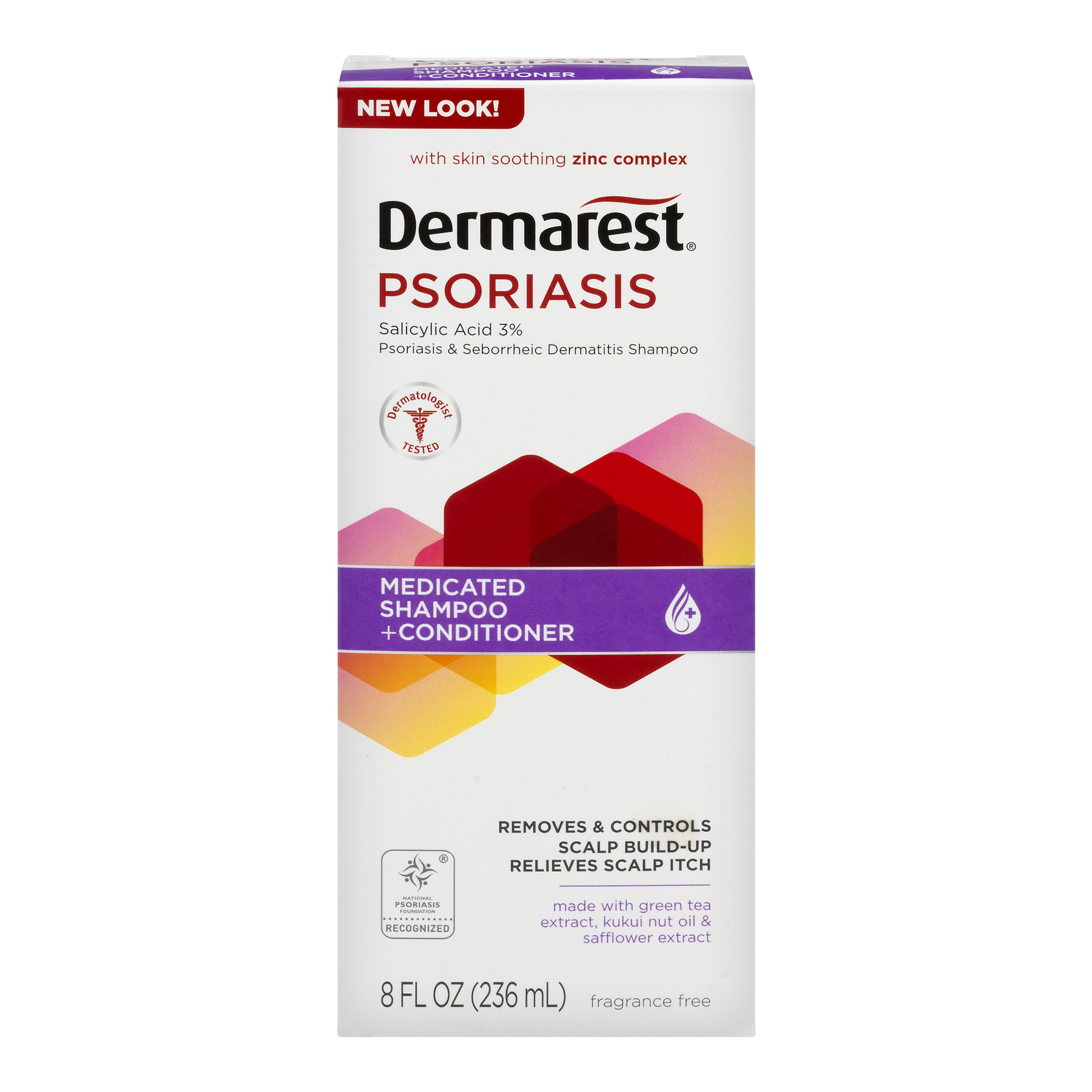 Dermarest Psoriasis Medicated Shampoo Plus Conditioner, 8.0 FL OZ