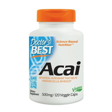 - Doctor's Best Acai, Non-GMO, Vegan, Gluten Free, Soy Free, 120 Veggie Caps