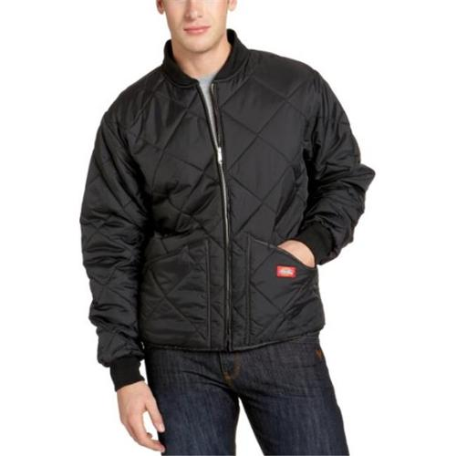 Dickies Mens Diamond Quilted Nylon Jacket, Black - M