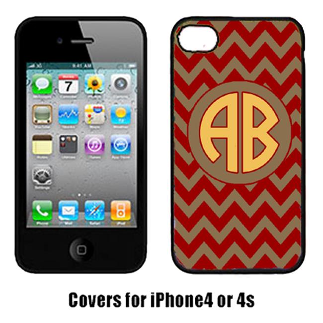 Carolines Treasures CJ1048-CUSTOM-IP4 Chevron Garnet And Gold For Florida State Cell Phone Cover Iphone 4