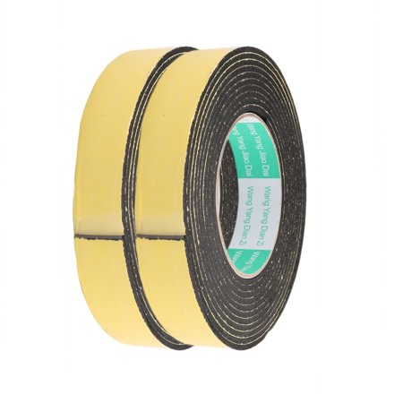 2pcs 25mm Width 3mm Thickness EVA Single Side Sponge Foam Tape 5 Meters Length - image 3 de 3