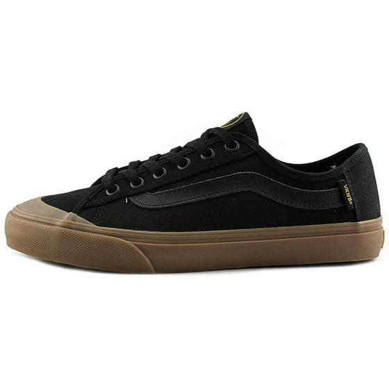 ae02807e22 Vans - Vans Men s Black Ball Sf Captain Fin   Gum Ankle-High Canvas  Skateboarding Shoe - 10.5M - Walmart.com