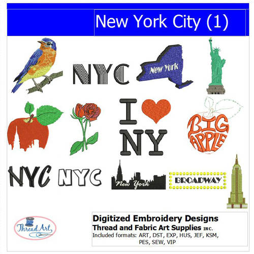 Threadart Machine Embroidery Designs NYC(1) CD