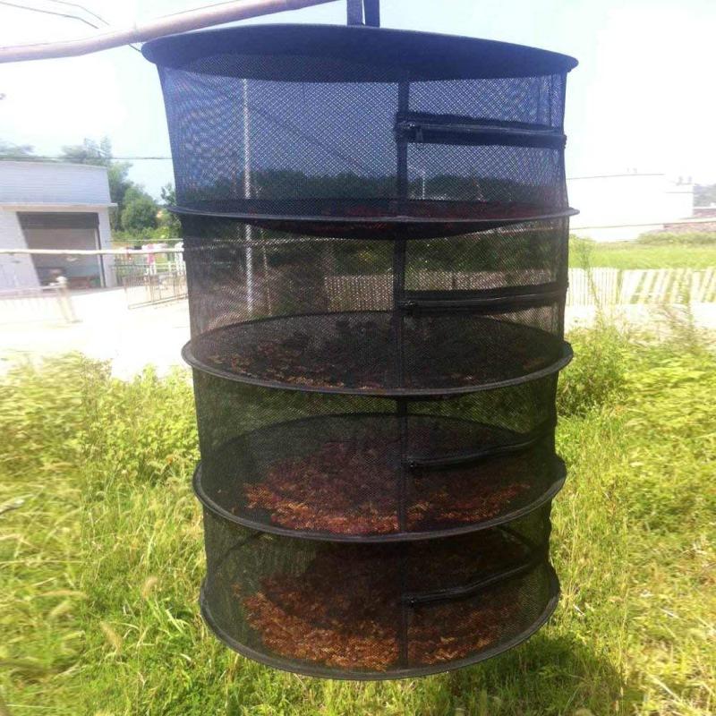 1X Herb Drying Net with Zippers Herb Dryer Mesh Tray Drying Rack Flowers B H6N4