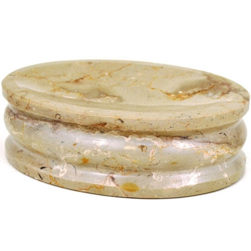 Nature Home Decor Sahara Beige Marble Soap Dish