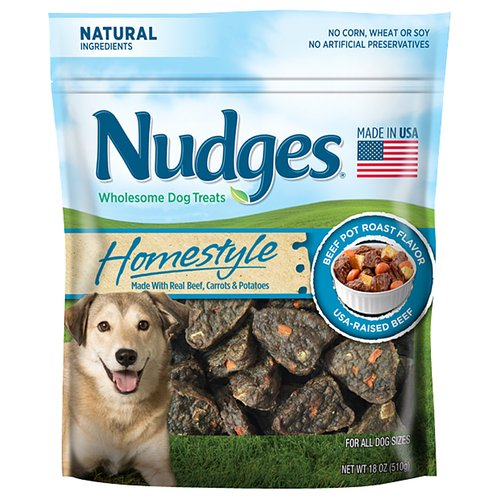 Nudges Homestyle Beef Pot Roast Dog Treats, 18 oz