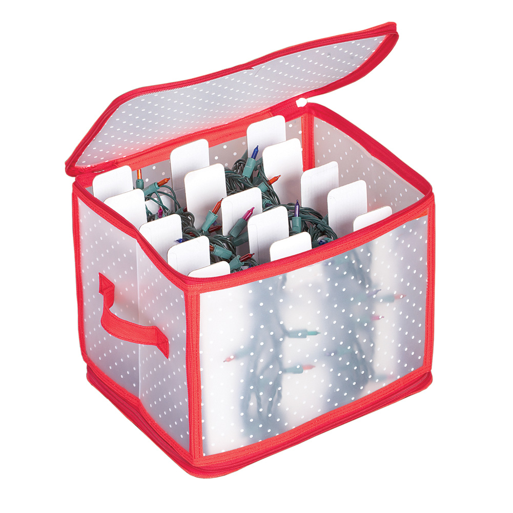 Christmas Light Storage Box with 5 Cardboard Winders - 500 lights