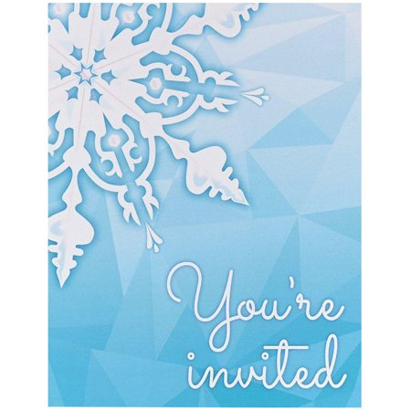 Snowflake Winter Wonderland Invitations (8) for $<!---->