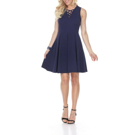 Women's Shay Fit & Flare Dress](Navy Tutu Dress)