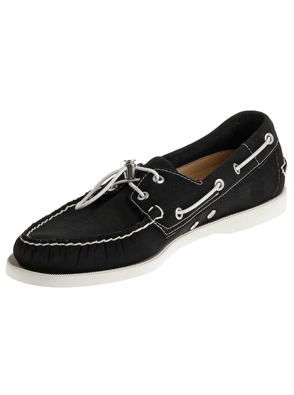 Sebago Mens Docksides Ariaprene Boat Shoes in Black Neoprene by Sebago